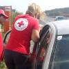 A budaörsi Vöröskereszt akcióban – Balesetnél segítettek