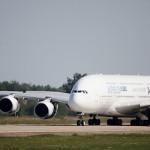 Airbus A380 arrives at MAKS-2011 air show