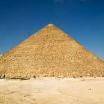 Great pyramid of Khufu in Giza plateau, Egypt
