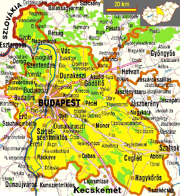 budapest megye térkép Kilencvennél is több település kezdeményezi Pest megye és Budapest  budapest megye térkép