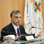 A Szent Pál Egyetem által közreadott felvételen Orbán Viktor miniszterelnök előadást tart a madridi Szent Pál Egyetemen Remény és keresztény válasz a válságra címmel 2012. november 17-én. MTI Fotó: Szent Pál Egyetem