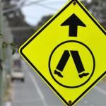 CWXJXP pedestrian crossing ahead sign