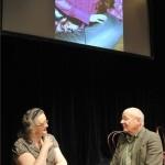 Jókai Anna író, zsűritag és Bereményi Géza, a Thália Színház igazgatója beszélget a Vidéki Színházak Fesztiváljáról tartott sajtótájékoztató előtt a Thália Színház Új Stúdiójában 2013. augusztus 28-án. Tizenegy teátrum mutatja be egy-egy előadását a Vidéki Színházak Fesztiválján a Thália Színházban, ahol szeptember 7. és 14. között nyolc nagyszínpadi és három stúdió-produkciót láthat a budapesti közönség. MTI Fotó: Soós Lajos