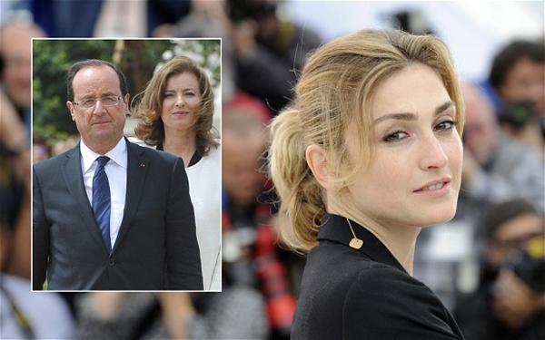 Francois Hollande és Valerie Trierweiler (balra), Julie Gayet