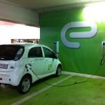Full electric recharging at a shopping center garage 1