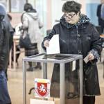 Voting in referendum in Crimea, Ukraine - 16 Mar 2014