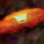 szupermassziv_legkisebb_fekete_lyuk_RGG118_galaxis_illusztr