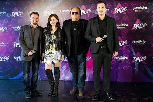 A Dal 2016 zsűrijének tagjai, Pierrot zenei producer, Zséda énekes, Frenreisz Károly zenész-zeneszerző, Both Miklós előadóművész, zeneszerző (b-j)