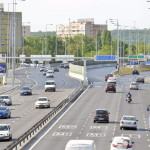 Budapest, 2016. április 18. A 4-es metró beruházásához kapcsolódva épült Budaörsi úti kétszintû közúti csomópont az avatás után, 2016. április 18-án. MTI Fotó: Máthé Zoltán
