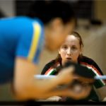 Madarász Dóra (szemben) játszik a svéd Li Fen ellen