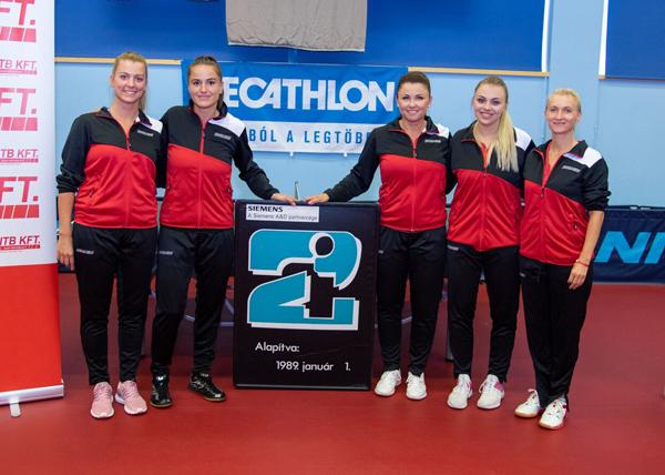 A 2019/2020-as csapat tagjai: Nagyváradi Mercédesz, Pergel Szandra, Fazekas Mária, Surján Szabina, Lovas Petra (Fotó: BSC)