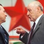 Grósz és Kádár az MSZMP országos értekezletén