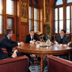 Orbán Viktor kormányfõ találkozott Simor András jegybankelnökkel