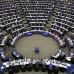 Az Európai Parlament, az EP által közzétett felvétel az ülésteremről a 2012. február 16-i plenáris ülés idején a kelet-franciaországi Strasbourgban.