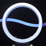 Budapest, 2012. július 24. A Duna Televízió új logója a Magyar Televízió székházában rendezett tájékoztatón, ahol bemutatták a közmédia új arculatát. MTI Fotó: Bruzák Noémi