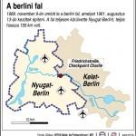 A berlini fal 1989. november 9-én omlott le a berlini fal, amelyet 1961. augusztus 13-án kezdtek építeni. A fal teljesen körülvette Nyugat-Berlint, teljes hossza 155 km volt.