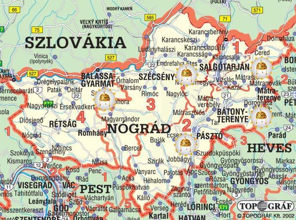 Nograd Megye Terkep Reszletes Terkep 2020