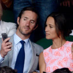 File photo dated 6/7/2016 of Pippa Middleton and James Matthews on day nine of the Wimbledon Championships at the All England Lawn Tennis and Croquet Club, Wimbledon. Pippa Middleton has reportedly become engaged to her financier boyfriend James Matthews.
