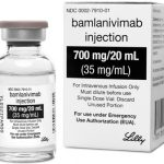 This photo provided by Eli Lilly shows the drug Bamlanivimab. On Monday, Nov. 9, 2020, the Food and Drug Administration cleared emergency use of Bamlanivimab, the first antibody drug to help the immune system fight COVID-19. The drug is for people 12 and older with mild or moderate COVID-19 not requiring hospitalization. (Courtesy of Eli Lilly via AP)